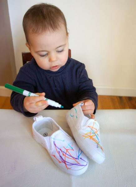 decorating kids shoes