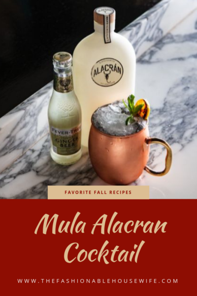 Favorite Fall Recipes: Mula Alacran Cocktail