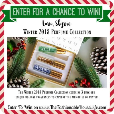 Enter To Win Love Slyvie Winter 2018 Perfume Collection