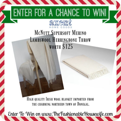 Enter To Win McNutt Supersoft Merino Lambswool Ice Maze Throw worth $125