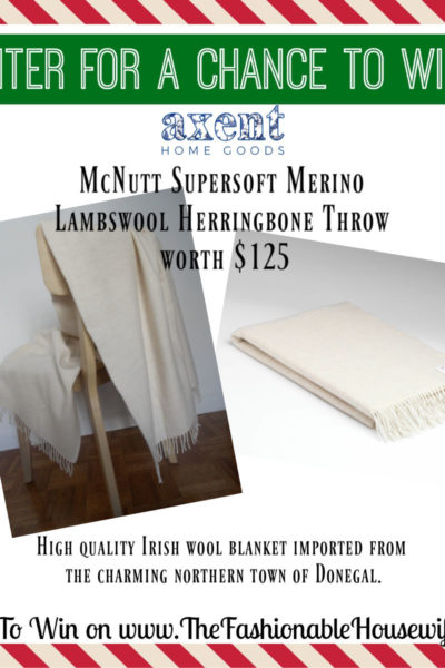 Enter To Win McNutt Supersoft Merino Lambswool Herringbone Throw worth $125