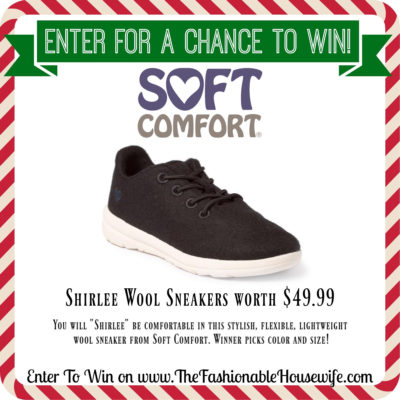 Enter To Win Soft Comfort Shirlee Wool Sneakers
