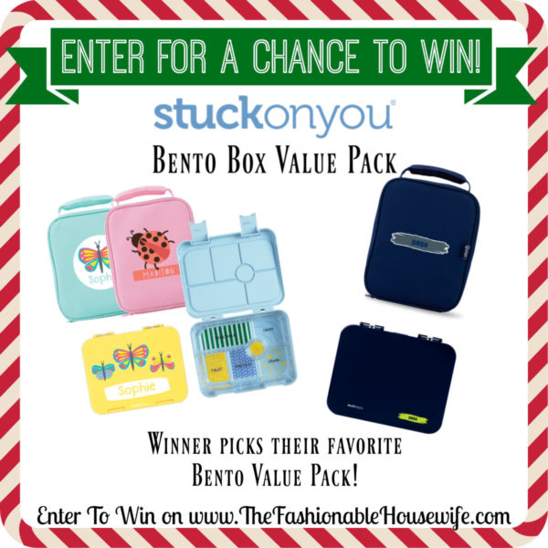 Enter To Win a Stuck On You Personalized Bento Box Value Pack!