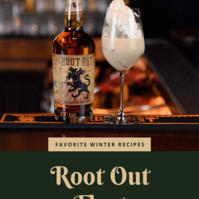 Recipe For Root Out Float Made With Root Beer Flavored Whisky