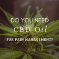Do You Need CBD Oil For Pain Management?