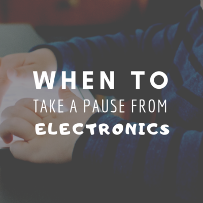 When To Take A Pause From Electronics
