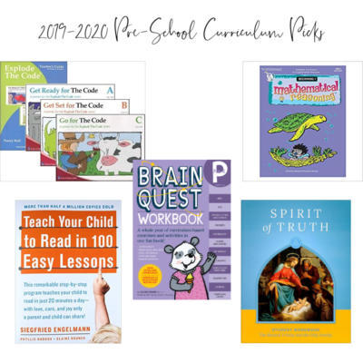 Pre-School Homeschool Plan for 2019-2020