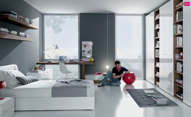 Dormitorio juvenil neutro