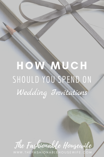 How Much Should You Spend on Wedding Invitations?