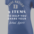 9 Items To Help You Share Your School Spirit