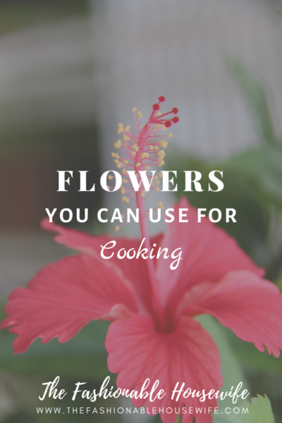 Flowers You Can Use for Cooking