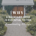Why a Backyard Shed is Essential to the Homesteading Lifestyle