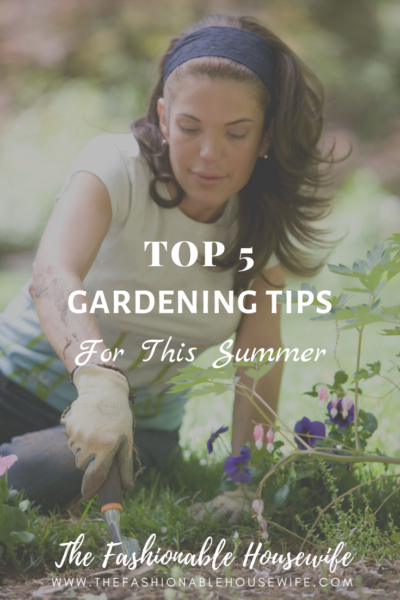 Top 5 Gardening Tips For This Summer
