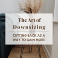 The Art of Downsizing: Cutting Back As A Way To Gain More
