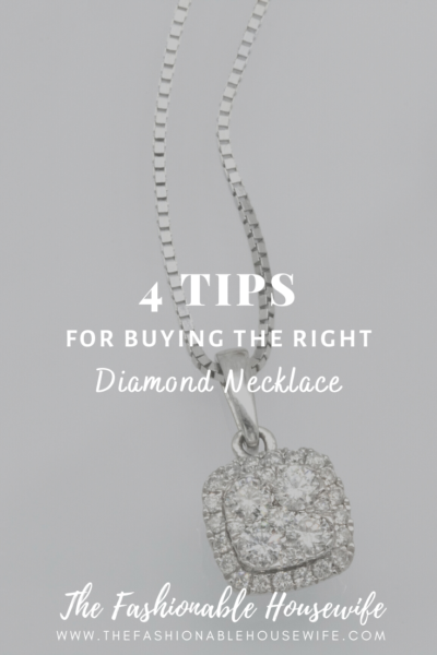 4 Tips for Buying the Right Diamond Necklace
