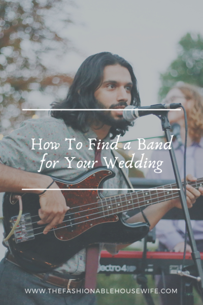 How To Find a Band for Your Wedding