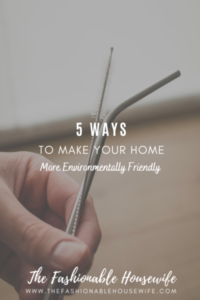 5 Ways to Make Your Home More Environmentally Friendly