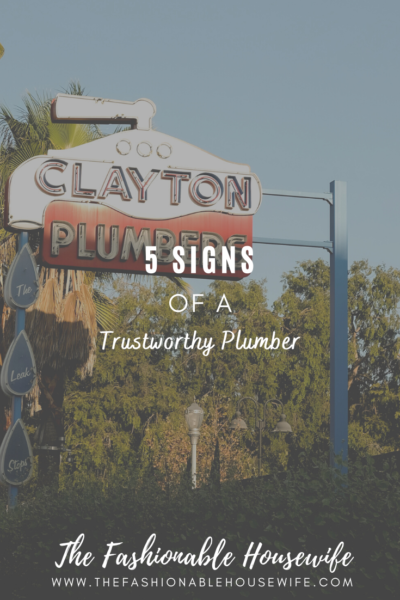 5 Signs of a Trustworthy Plumber