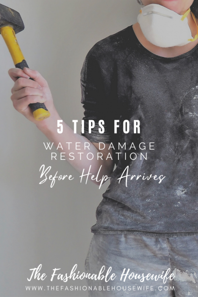 5 Tips For Water Damage Restoration Before Help Arrives