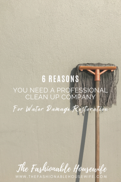 6 Reasons You Need a Professional Clean Up Company For Water Damage Restoration