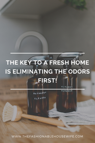 The Key To a Fresh Home is Eliminating the Odors First!