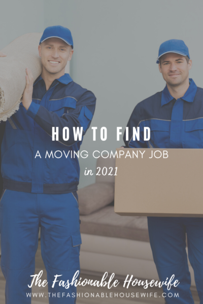 How to Find a Moving Company Job