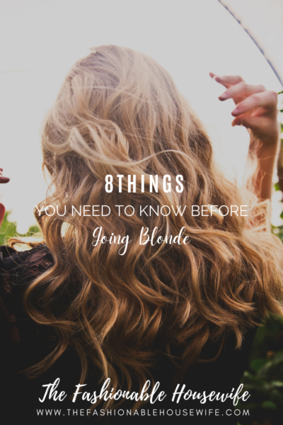 8 Things You Need to Know Before Going Blonde